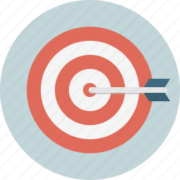 arrow, bullseye, strategy, target icon