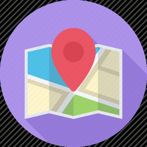 Site Map Icon: Location, Map, Optimization, Pin Icon