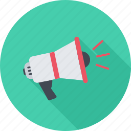 marketing, megaphone, promoting, seo icon