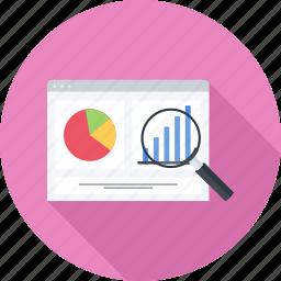 chart, graph, monitoring, seo icon