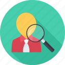 headhunter, job, search, staff recruitment, user icon