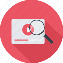 loupe, search, video, video search icon