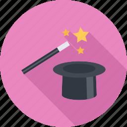 magic, magic wand, trick, wand icon