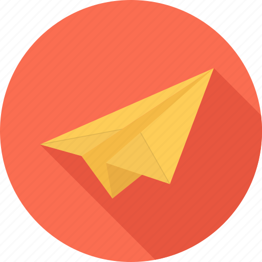 airmail, airplane, mail, paper plane icon