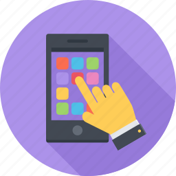 app, arm, mobile, phone, smartphone icon