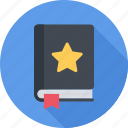 book, bookmarking, favorites, star icon