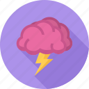 brain, brainstorm, idea, storm icon