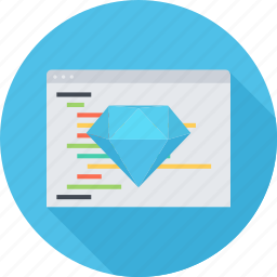 clean code, code, diamond, seo, site icon