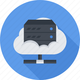 cloud, cloud server, files, server icon