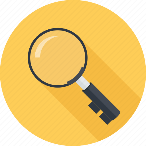 key, keywords, loupe, seo icon