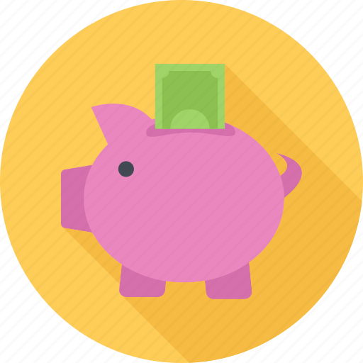 money, money box, pig, savings icon