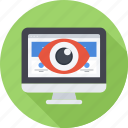 eye, monitor, monitoring, optimization, seo, site icon