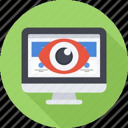 eye, monitor, monitoring, optimization, seo, site icon
