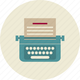 content, editor, seo, typewriter, web site, writing icon