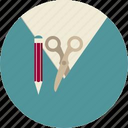 content, management, pencil, scissors, seo, web site icon