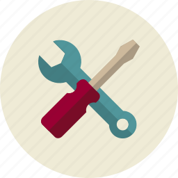 screwdriver, service, support, technical, wrench icon