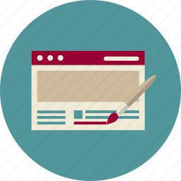 adaptive web design, brush, design, optimization, seo, web, web site icon