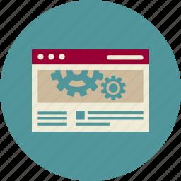 adaptive web design, cogwheel, optimization, responsive, seo, service, website icon