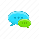 bubble, cartoon, conversation, design, message, sign, speech icon