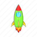 cartoon, graphic, launch, rocket, ship, sign, spaceship icon