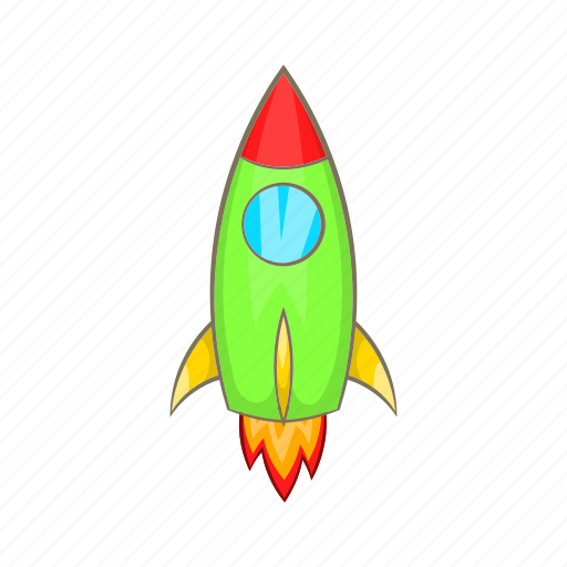 Cartoon, graphic, launch, rocket, ship, sign, spaceship icon