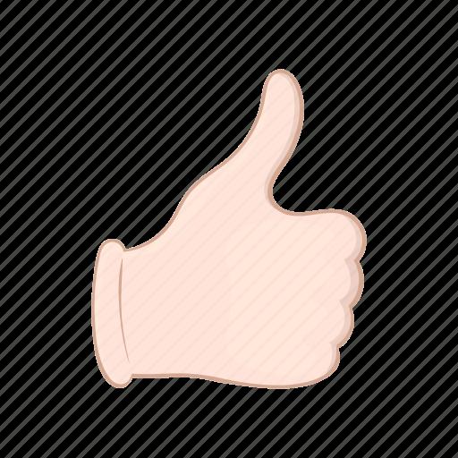 cartoon, good, hand, ok, sign, thumb, up icon