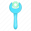 cartoon, mechanic, service, sign, spanner, tool, wrench icon