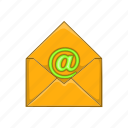 cartoon, communication, design, email, mail, message, sign icon