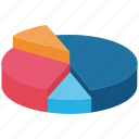 bar, chart, elements, graph, infographic, pie, visualization icon