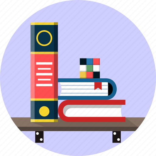 books, bookshelf, cube, furniture, library, rubik, study icon