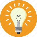 bulb, creativity, energy, idea, light, lightning, power icon
