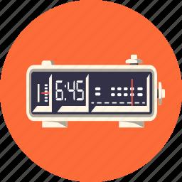 alarm, clock, digital, radio, time, timer, watch icon