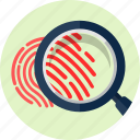 biometric, finger, fingerprint, identification, print, trace, zoom icon