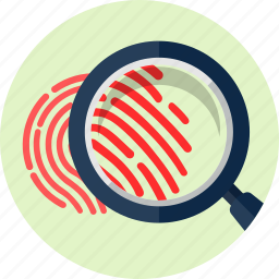 biometric, finger, fingerprint, identification, print, trace, zoom icon