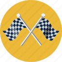 chequered, competition, finish, flag, goal, racing, start