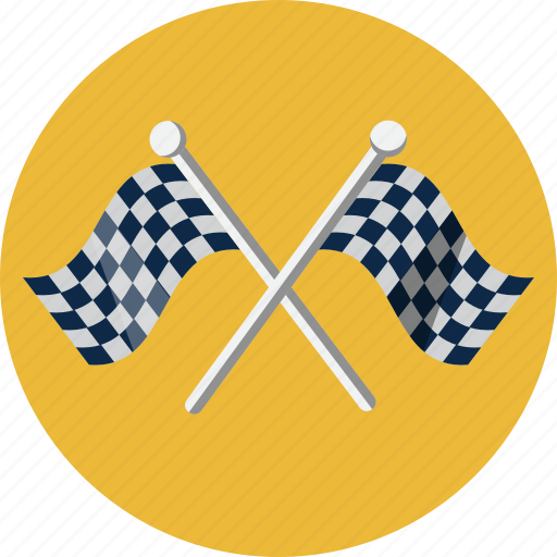 chequered, competition, finish, flag, goal, racing, start icon