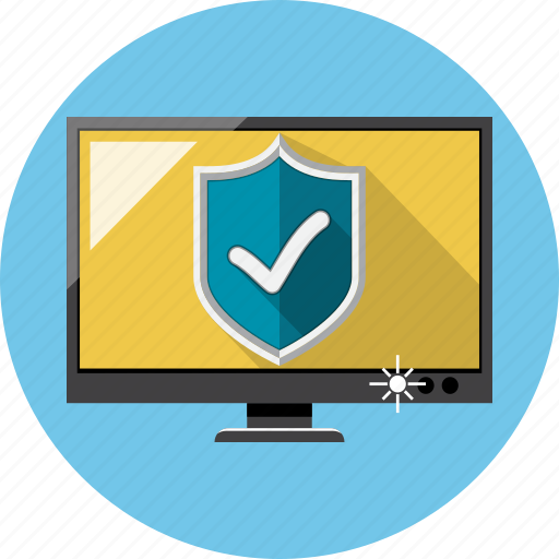 antivirus, monitor, safety, shield icon