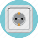 electric, outlet, plug, power, socket icon