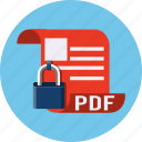 documents, file, format, lock, page, pdf, security