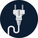 connection, electric, electricity, energy, plug, power icon