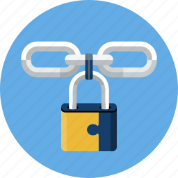 chain, hyperlink, link, password, protection, secure, security icon