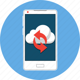 arrow, cloud, mobile, refresh, reload, sync, update icon