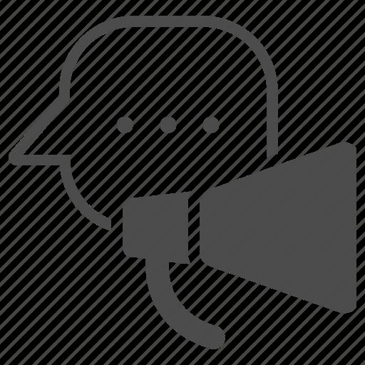 advertising, communication, email marketing, marketing, megaphone icon