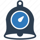 alarm bell, alert, bell, clock, notification, stopwatch, timer icon