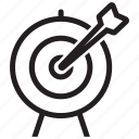 aspirations, business goal, target, goal, aim, business, arrow