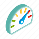 car, display, fuel, full, isometric, meter, panel icon