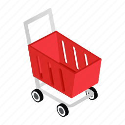 buy, cart, isometric, retail, sale, shop, trolley icon