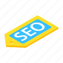 internet, isometric, label, marketing, search, seo, website icon