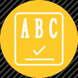 checker, checklist, list, paper, report, spellchecker, text icon
