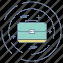 breifcase, business, optimization, seo icon